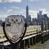 Tourist binoculars at Liberty Island Royalty Free Stock Image