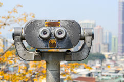 Tourist binoculars at macau Royalty Free Stock Photos