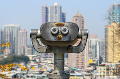 Tourist binoculars at macau Royalty Free Stock Photography