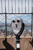 Tourist binoculars in New York City Stock Photo
