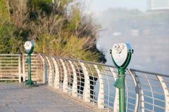 Tourist binoculars at Niagara Falls Stock Image