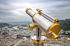 Tourist binoculars in Salzburg Stock Images