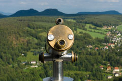 Tourist binoculars for sightseeing Royalty Free Stock Photo
