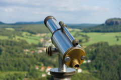 Tourist binoculars for sightseeing Royalty Free Stock Photos