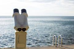 Tourist binoculars Royalty Free Stock Photography