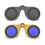 Tourist binoculars. Binoculars for tourists black and beige color, vector format Stock Photos