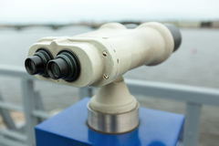 Tourist binoculars Stock Photo