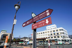 Tourist board information and guidemap taken in front of kawaguchigo train station Stock Images