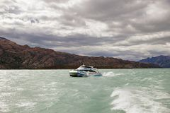 Tourist boat in the Argentino Lake, Argentina Royalty Free Stock Photography