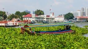 Tourist boat on the Chao Phraya River Royalty Free Stock Photos