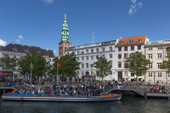 Tourist boat in Copenhagen Royalty Free Stock Images
