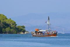 Tourist boat, Corfu Stock Photography