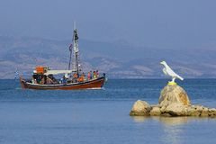 Tourist boat, Corfu Royalty Free Stock Photography