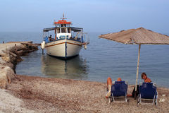 Tourist boat in Corfu, Greece Stock Photography