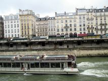 River Seine Cruise Paris France stock photo