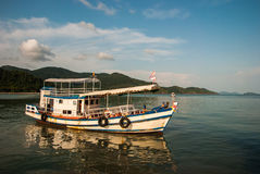 Tourist boat in east of thailand Royalty Free Stock Photos