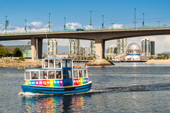 Tourist boat in False Creek in Vancouver, Canada Royalty Free Stock Photography