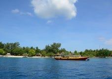 A tourist boat at Gili Meno island Stock Images