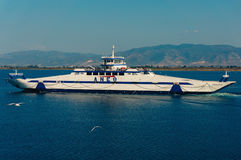 Tourist boat, Greece Royalty Free Stock Image