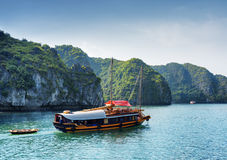 Tourist boat in the Ha Long Bay, Vietnam Stock Images