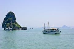 Tourist boat at Halong bay Royalty Free Stock Photography