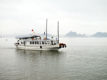 Tourist Boat in Halong Bay, Vietnam. Royalty Free Stock Photos