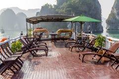 Tourist boat on Halong bay Royalty Free Stock Photos