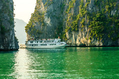 Tourist boat on Halong bay Royalty Free Stock Photography