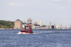 Tourist boat in Hamburg, editorial Royalty Free Stock Photography