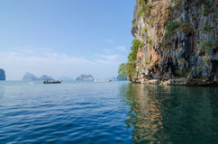 Tourist Boat at James Bond island in Thailand Stock Photos