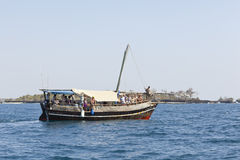 Tourist Boat in Kenya, editorial Royalty Free Stock Photo