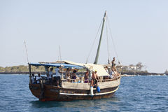 Tourist Boat in Kenya, editorial Royalty Free Stock Photography