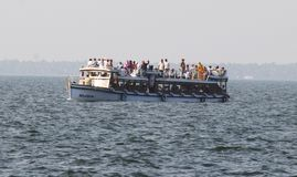 Tourist boat in Kerala Royalty Free Stock Images