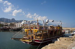Tourist boat in Kyrenia Stock Photos