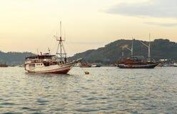Tourist Boat in Labuan Bajo Port, Indonesia Stock Image