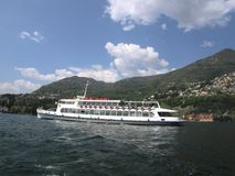 Tourist Boat on lake Como Italy Stock Photos
