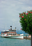 Tourist boat on Lake Garda Stock Photos