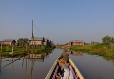 A tourist boat on the lake in Shan state, Myanmar Royalty Free Stock Photo