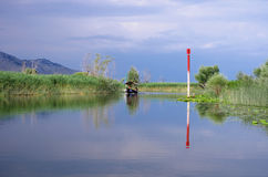 Tourist Boat On The Lake Skadar, Montenegro Stock Photography