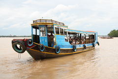 Tourist boat on Mekong River Royalty Free Stock Photography
