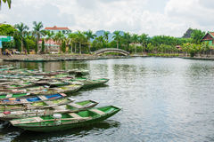 Tourist boat most popular place in Vietnam Royalty Free Stock Photo