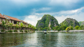 Tourist boat most popular place in Vietnam Royalty Free Stock Images