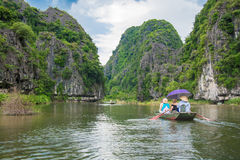 Tourist boat most popular place in Vietnam Stock Photos