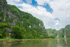 Tourist boat most popular place in Vietnam Royalty Free Stock Image