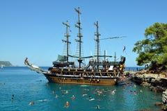 Tourist Boat near Kemer, Turkey Royalty Free Stock Image