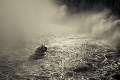 Tourist boat in the Niagara Falls Gorge Royalty Free Stock Image