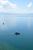 Tourist Boat in  Ohrid Lake Stock Image