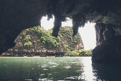 Tourist boat on Phang Nga Bay, Thailand Royalty Free Stock Photo
