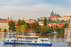 Tourist boat in Prague, Czech Republic Royalty Free Stock Photography
