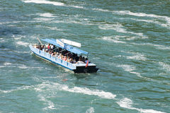 Tourist boat at Rhine Falls, Switzerland Royalty Free Stock Photo